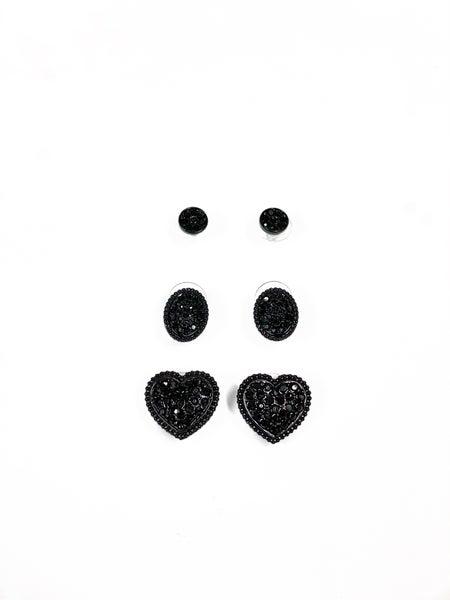 Days For Love Stud Set Black