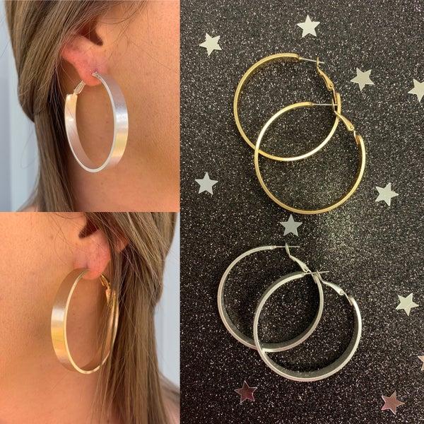 Past Infinity Hoop Earrings