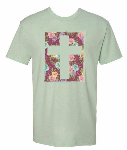 Floral Cross Tee