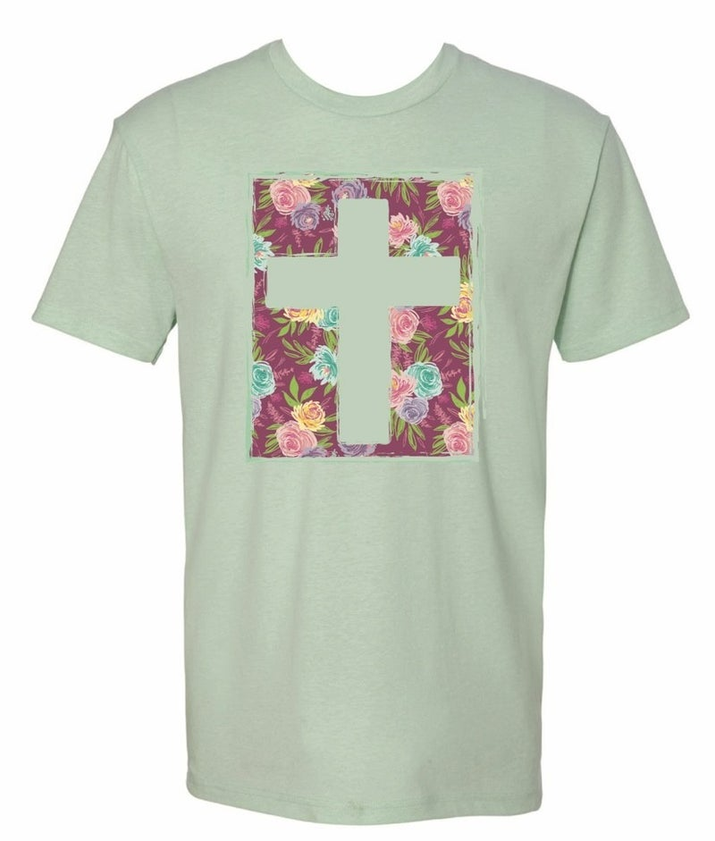 Floral Cross Tee *Final Sale*