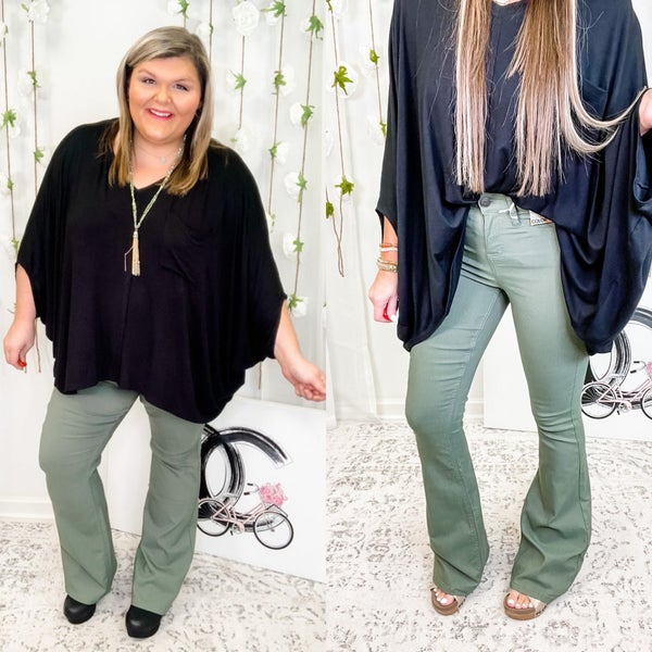 The Riley Flare Jeans Green