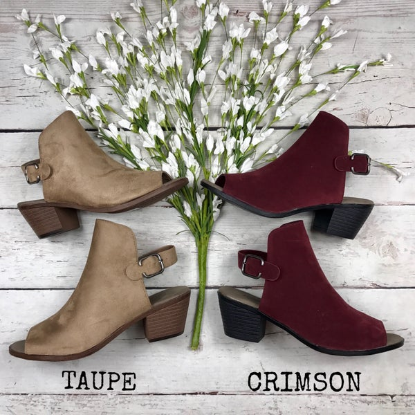 Simply Chic Peep-Toe Bootie