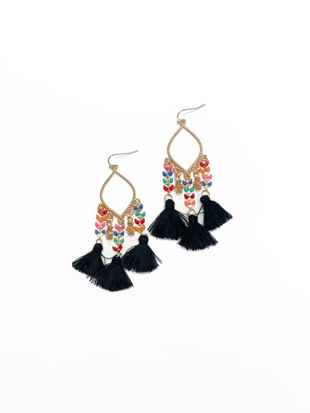 The Madison Earrings Black