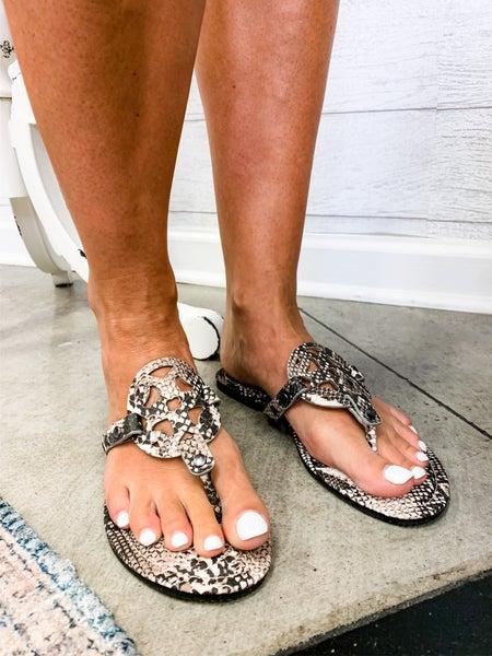 Follow My Lead Sandals Snake *Final Sale*