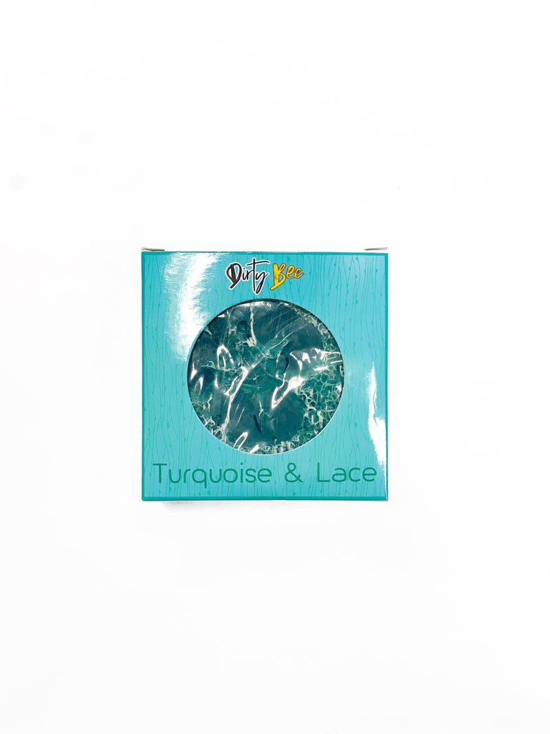 Turquoise & Lace Loofah Soap