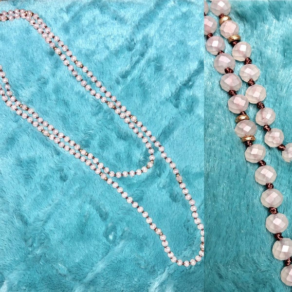 Clear Bead Wrap Necklace