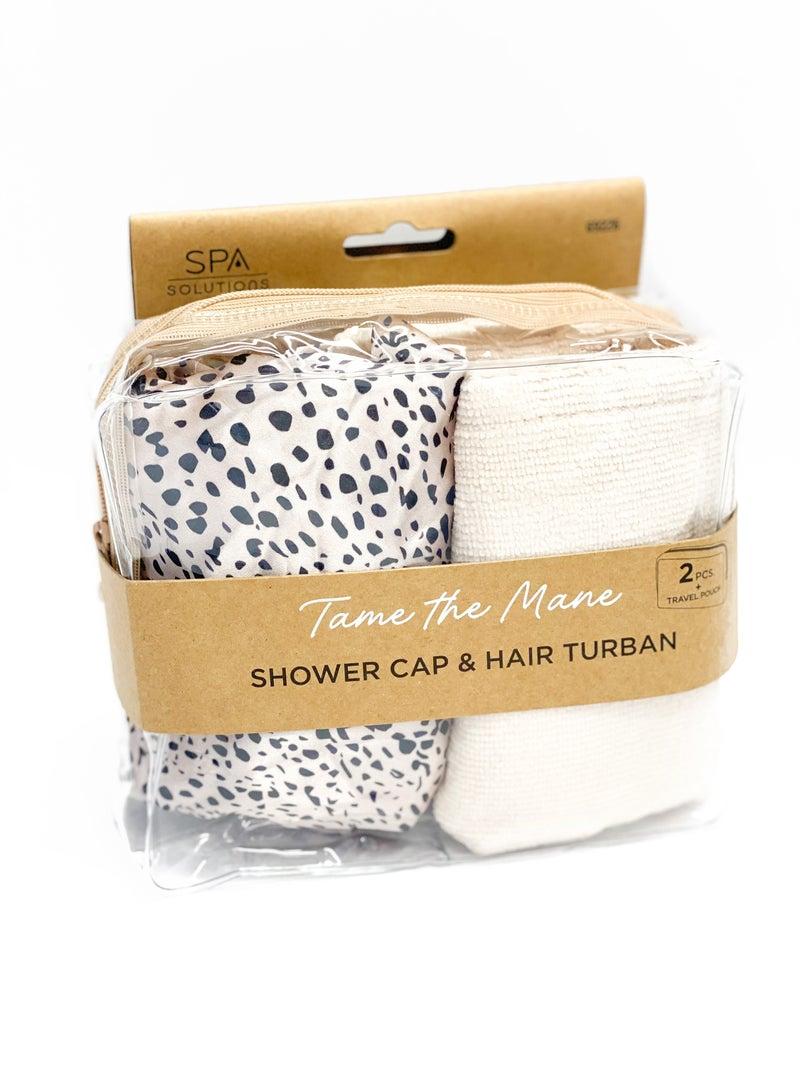 Shower Cap & Hair Turban Set