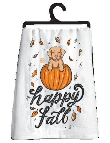 Happy Fall Dish Towel