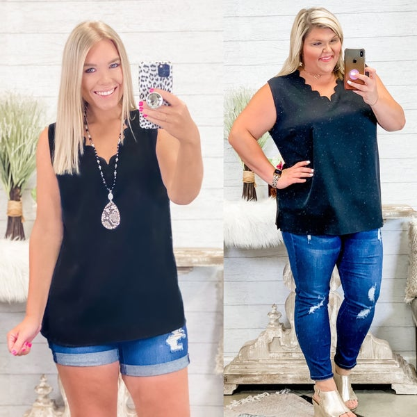 Beautiful Blessings Scalloped Top