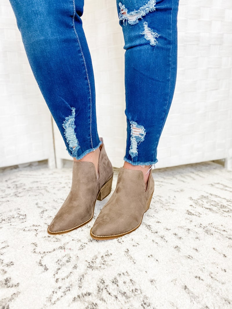 The Hazel Bootie Taupe