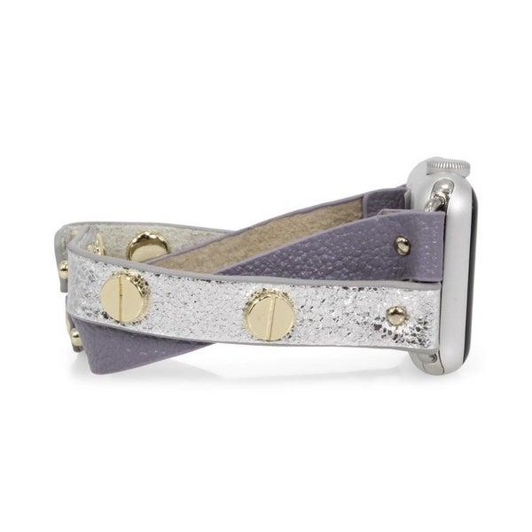 Crisscross Apple Watch Band - Lilac & Gold