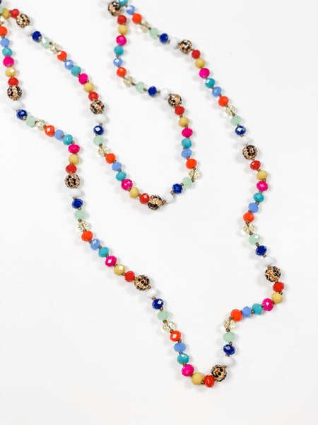 Crazy About You Necklace Multi