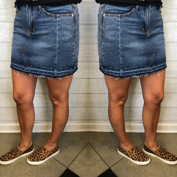 Move A Little Denim Skirt *Final Sale*