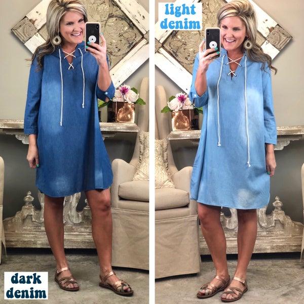 * Denim Delight Dress
