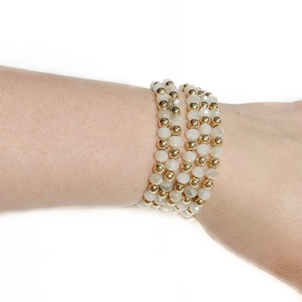 The Trina Bracelet Stack Ivory