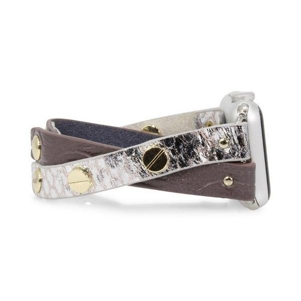 Crisscross Apple Watch Band - Mauve Gold