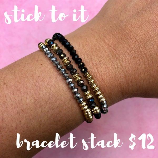 Stick To It Bracelet Stack Black