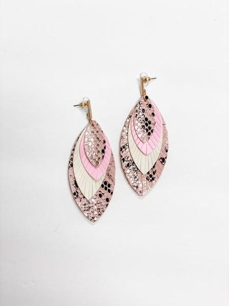 The Gail Earrings Pink