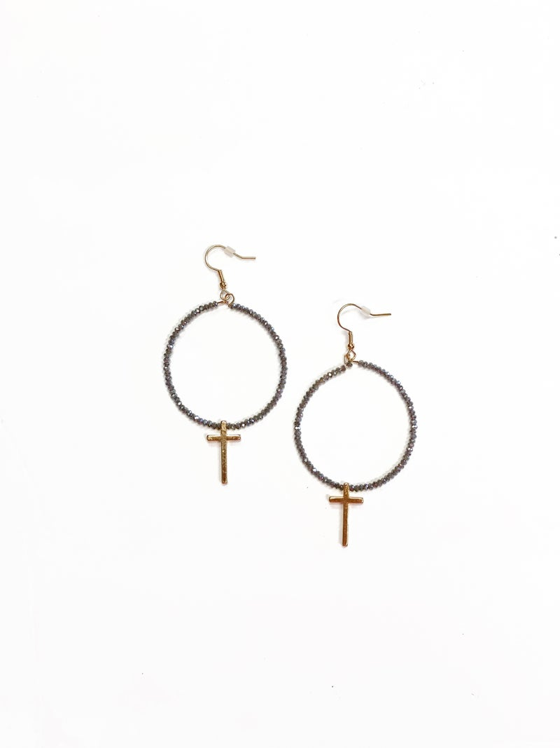 The Kelly Earrings Grey