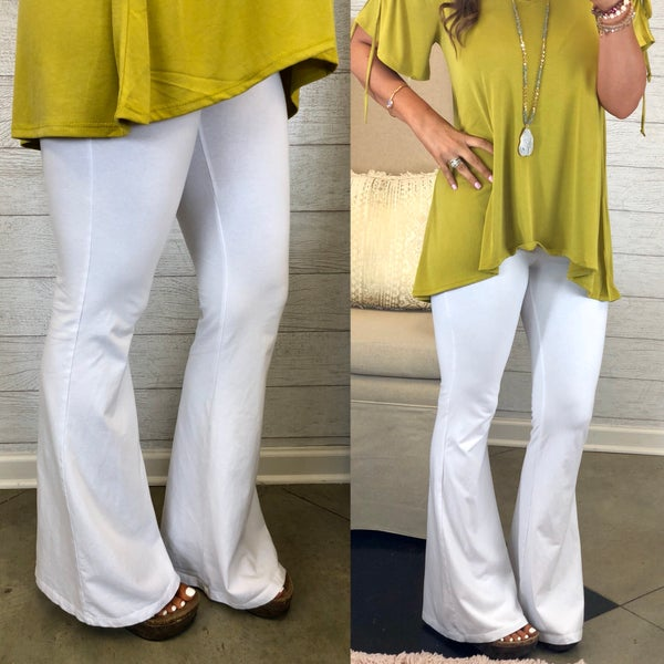 Another Day White Bell Bottoms FINAL SALE