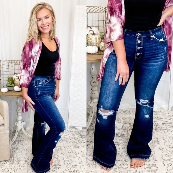 The Jessica Flares Dark Wash