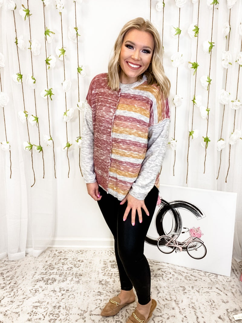 Excited To See You Sweater Mauve *Final Sale*