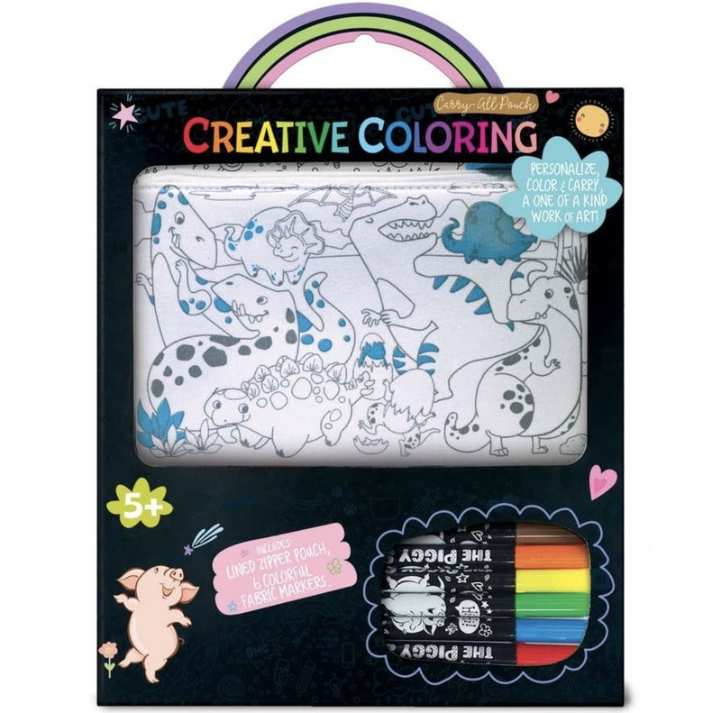 Dinosaur Creative Coloring Carry All Pouch