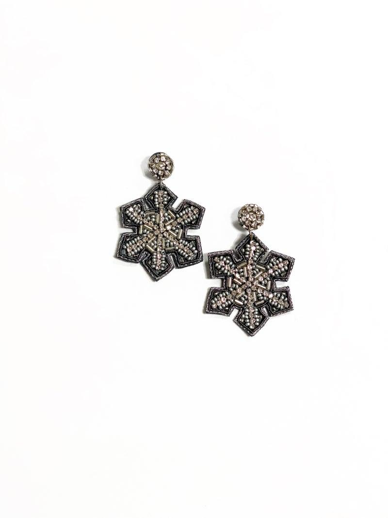 Glitzy Snowflake Earrings