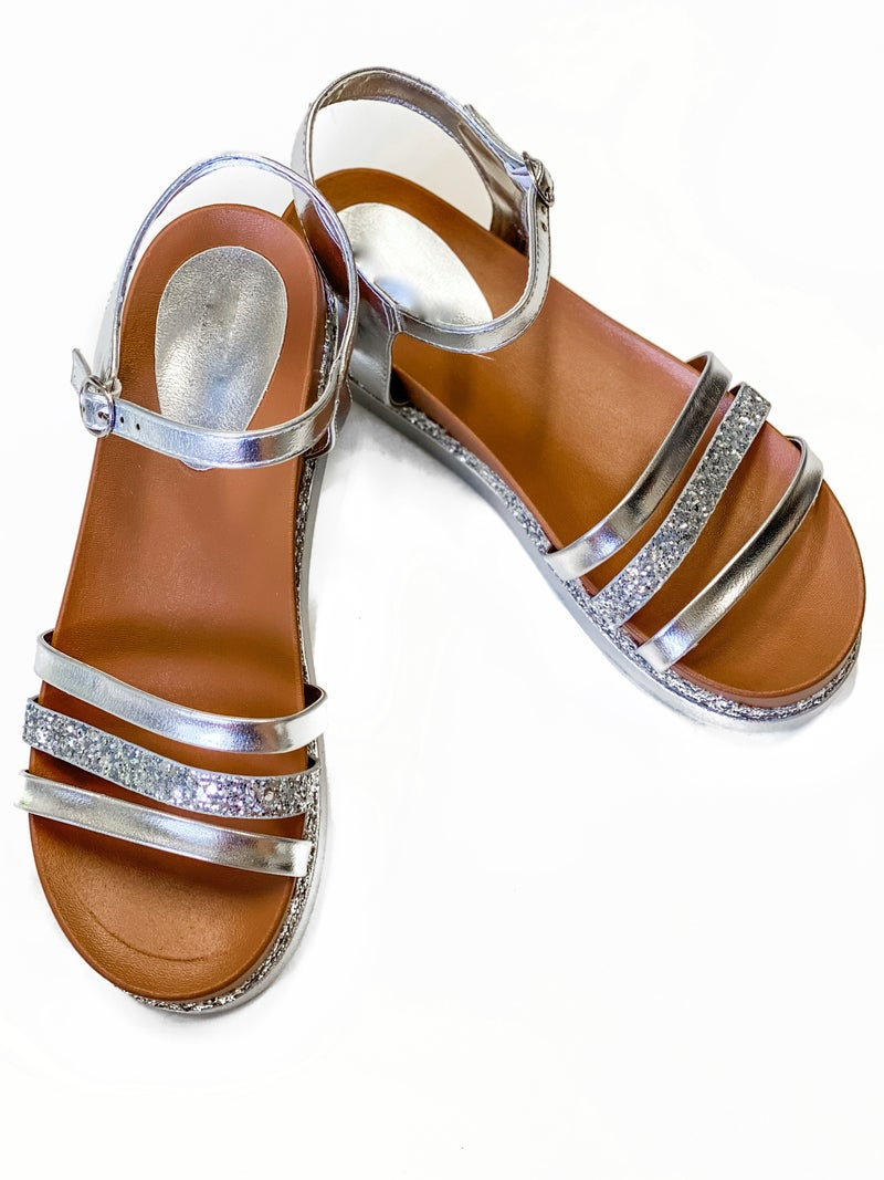 The Emily Sandals Silver *Final Sale*
