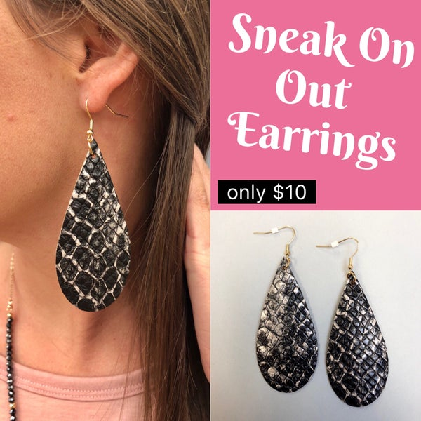Sneak On Out Earrings
