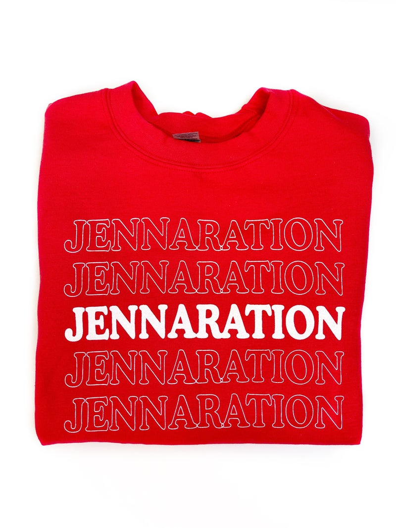 Jennaration Repeat Sweatshirt