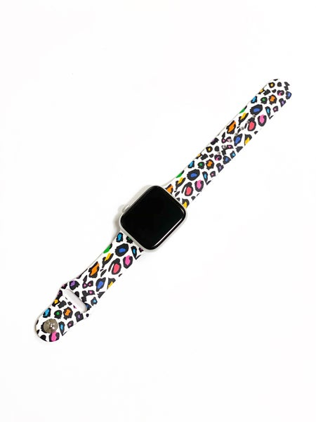 Multi Leopard Silicone Watch Band