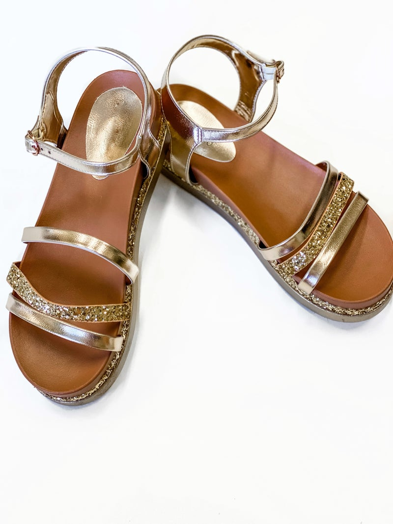 The Emily Sandals Gold *Final Sale*