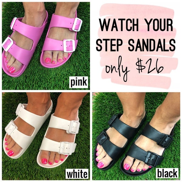 Watch Your Step Sandals FINAL SALE
