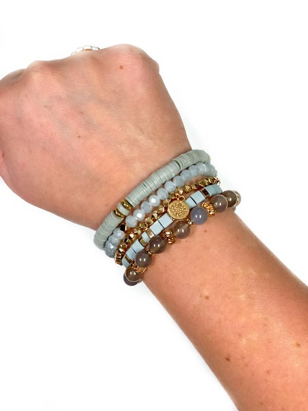 The Marlow Bracelet Stack Grey