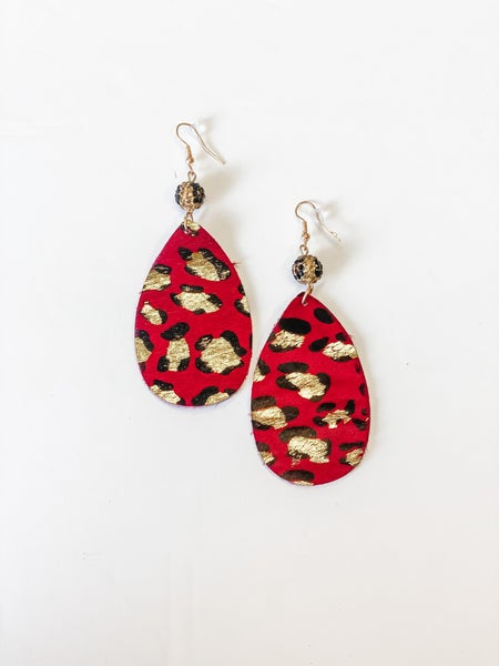 The Laurie Earrings Red