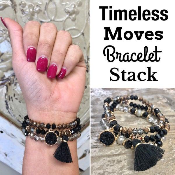 Timeless Moments Bracelet Stack Black