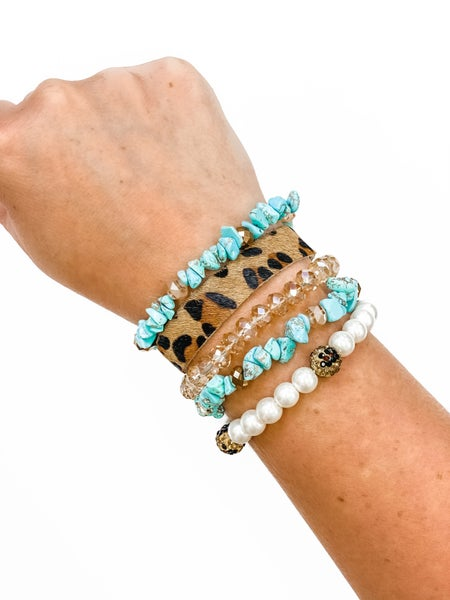 The Cammie Bracelet Stack Turquoise