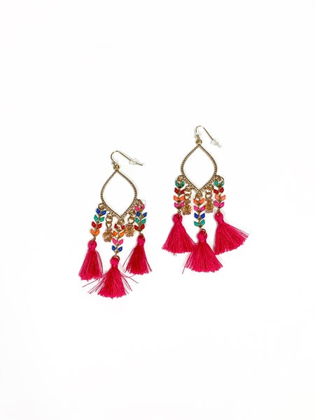 The Madison Earrings Pink