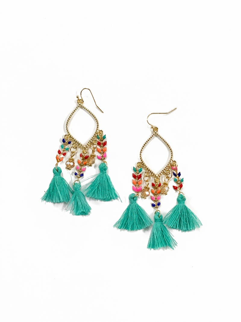 The Madison Earrings Turquoise