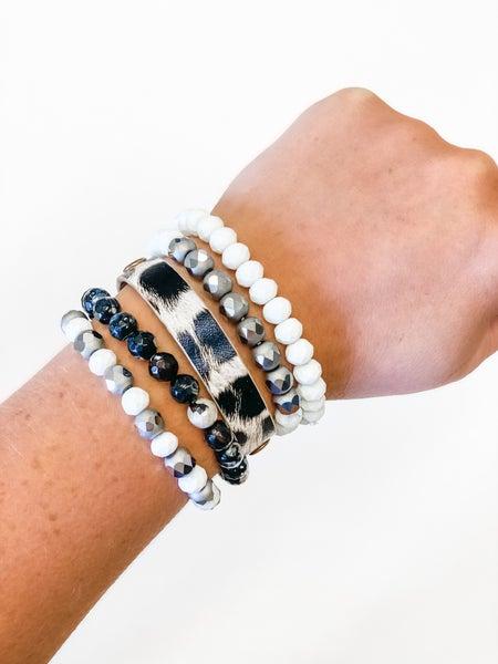 The Blakely Bracelet Stack White
