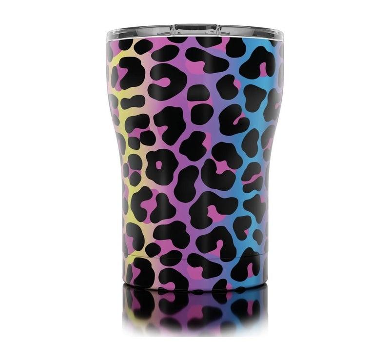 Neon Leopard 12oz Tumbler