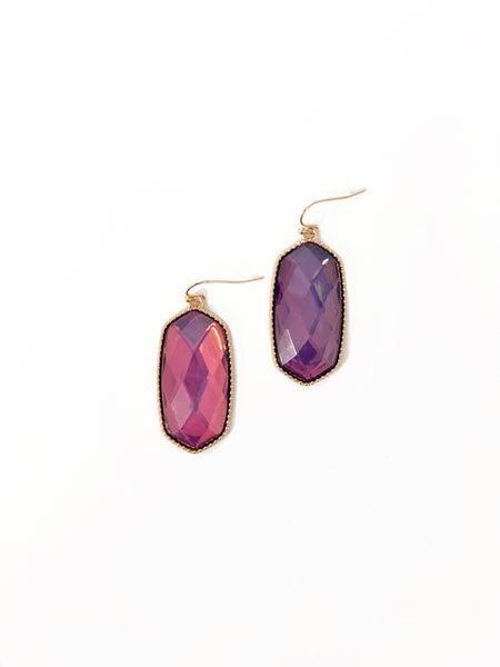 The Kacy Earrings Purple