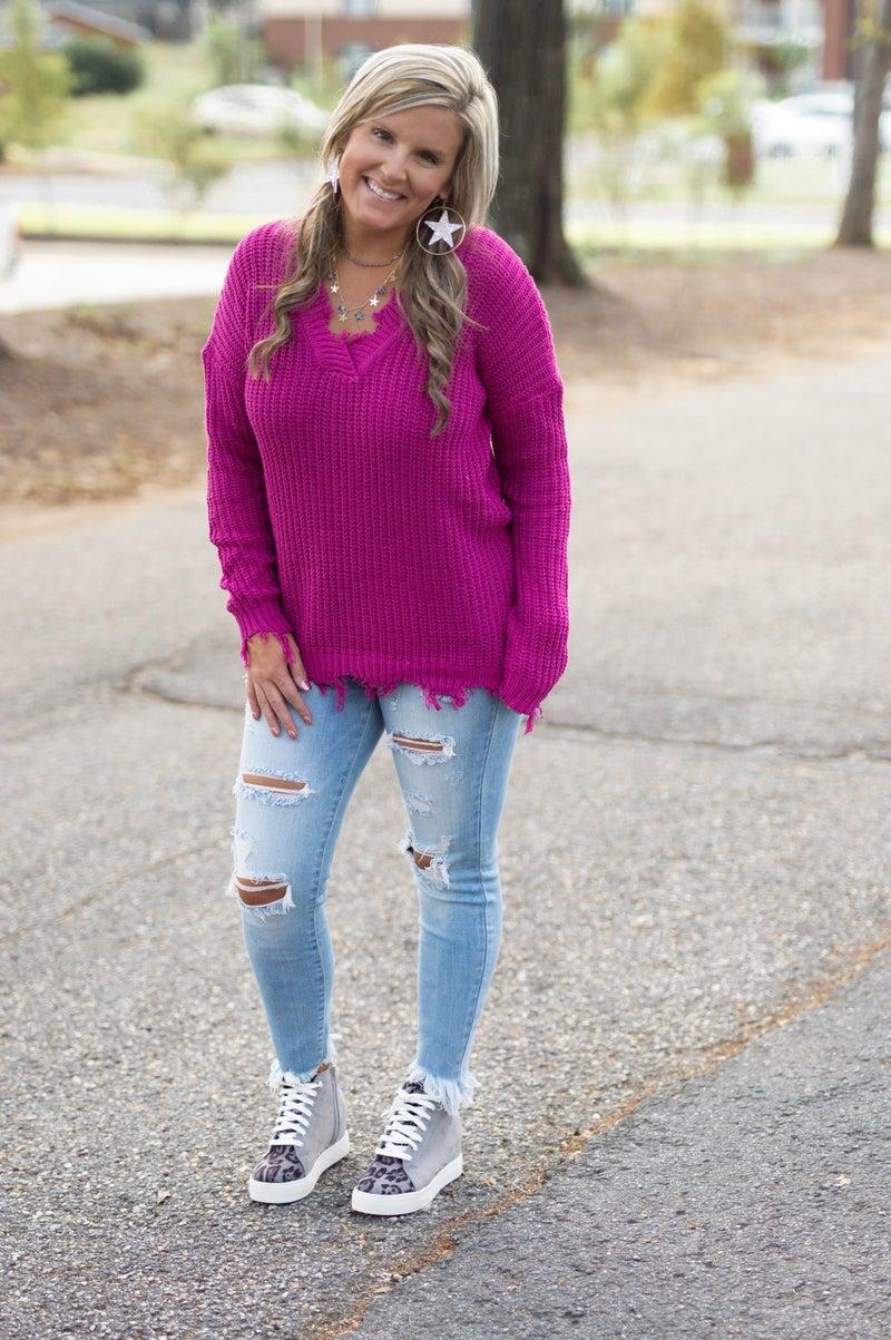 - Pretty In Pink Sweater *Final Sale*