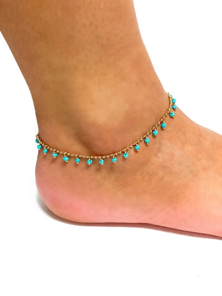 The Joleen Anklet Turquoise