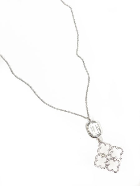 The Amber Necklace Silver