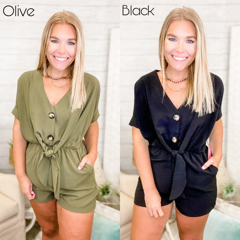 Never Change A Thing Romper *Final Sale*