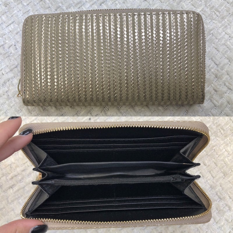 Gold Metallic Stripe Wallet - BLACK FRIDAY FINAL SALE