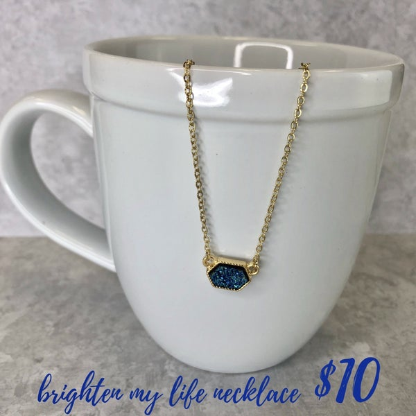 Brighten My Life Necklace Blue FINAL SALE