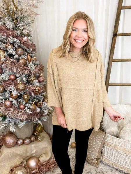 November Wishes Sweater Khaki